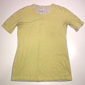 Lululemon yellow gray short sleeve top
